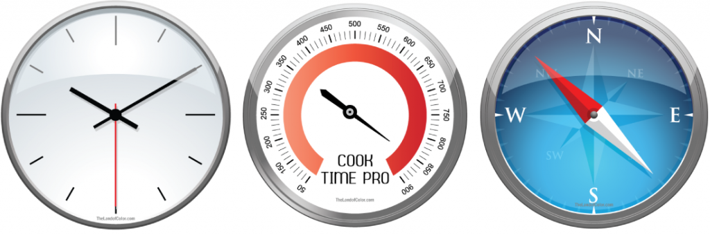 Color Training as easy as reading a clock-thermometer-compass
