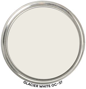 Glacier White OC-37 by Benjamin Moore Paint Blob