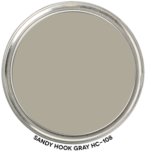 Sandy Hook Gray HC-108 by Benjamin Moore Paint Blob