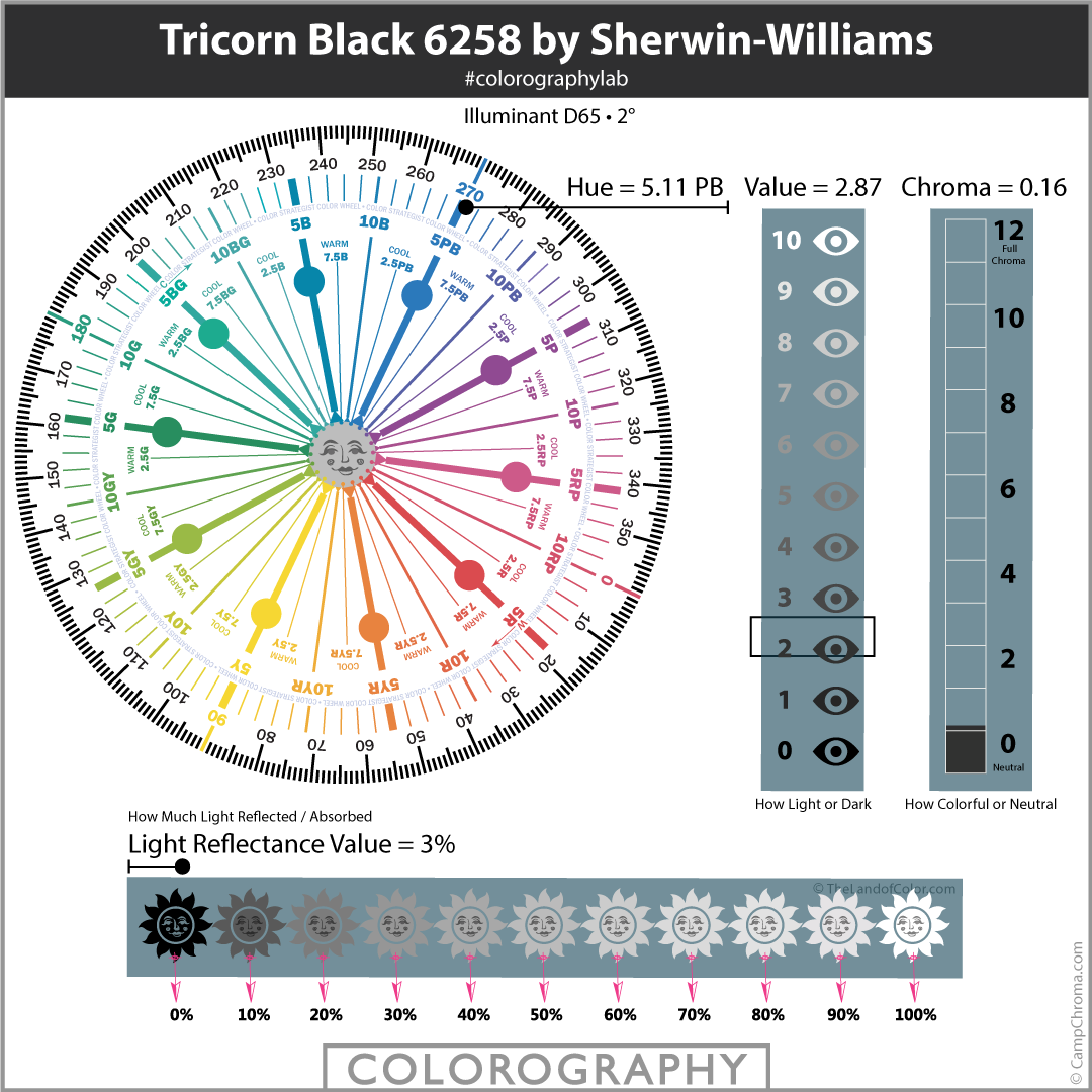 Tricorn Black 6258 by Sherwin-Williams