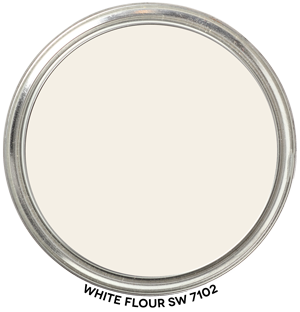 White Flour 7102 by Sherwin-Williams Paint Blob